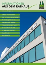 Informationen aus dem Rathaus Nr. 1- 2013 - Stadt Mettmann