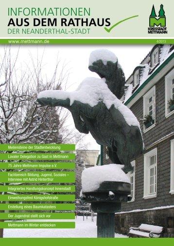 Informationen aus dem Rathaus Nr. 4- 2013 - Stadt Mettmann