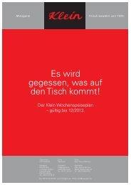 Menü-Kalender (.pdf) - Metzgerei Klein