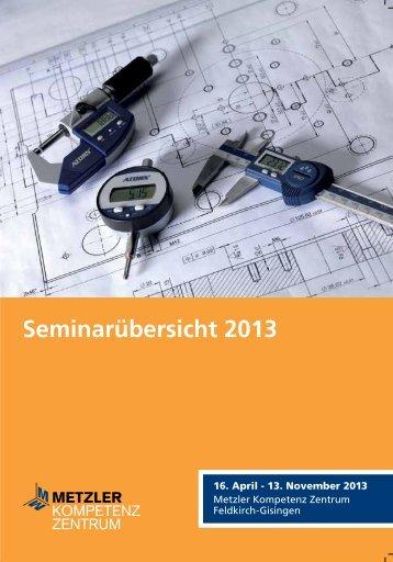 Seminarübersicht 2013 - Metzler