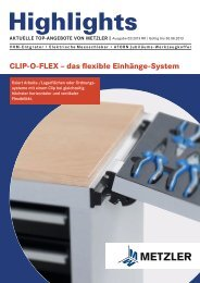 CLIP-O-FLEX – das flexible Einhänge-System - Metzler