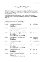 Sommersemester 2013 - Meteorologisches Institut, Universität ...