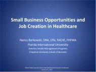 Small Business Opportunities and Job Creation in Healthcare
