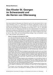 Das Kloster St. Georgen im Schwarzwald und die Herren von ...