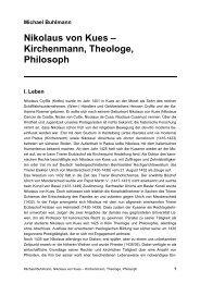 Nikolaus von Kues – Kirchenmann, Theologe, Philosoph