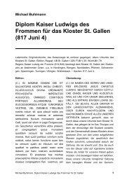 Diplom Kaiser Ludwigs des Frommen für das Kloster St. Gallen (817 ...