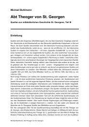 Abt Theoger von St. Georgen - Michael-buhlmann.de