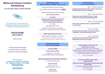 Milton-Erickson-Institut Heidelberg - Michaela Huber