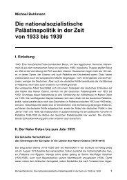 Die nationalsozialistische Palästinapolitik in der Zeit von 1933 bis ...