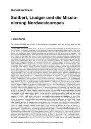 Suitbert, Liudger und die Missionierung Nordwesteuropas - Michael ...