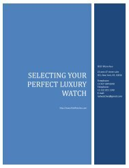 SELECTING YOUR PERFECT LUXURY WATCH   RSDWatches.com