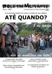 Boletim Militante - JOC Brasileira - Centro de Mídia Independente