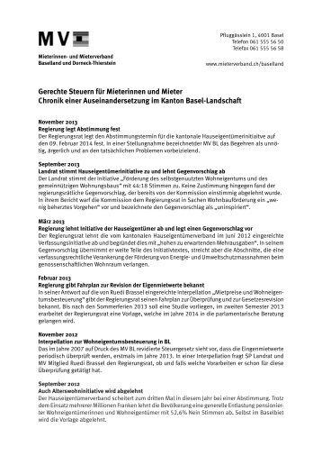 Chronik der Auseinandersetzung (pdf) - Mieterverband