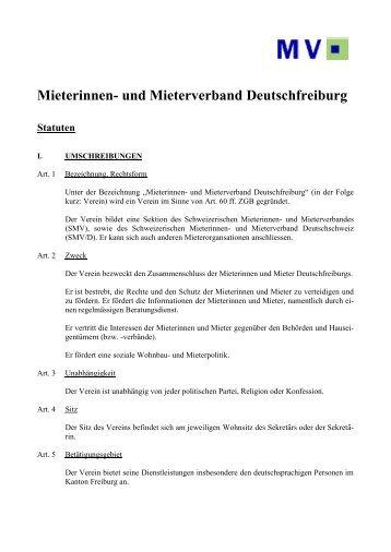 MIETERVEREINIGUNG DEUTSCHFREIBURG - Mieterverband