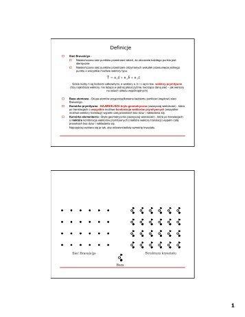 Wykład 2 i 3 (wezły, proste i płaszczyzny sieciowe)