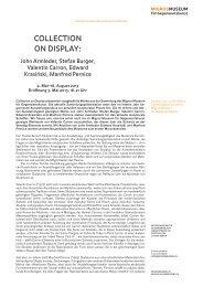 Pressetext als PDF - Migros Museum für Gegenwartskunst