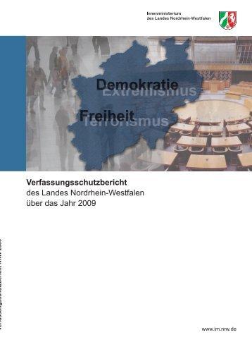 Bericht des Verfassungsschutzes über das Jahr 2009 - MIK NRW
