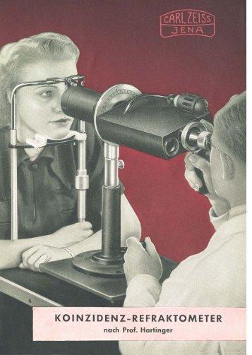 Das Koinzidenz-Refraktometer nach Prof. Hartinger