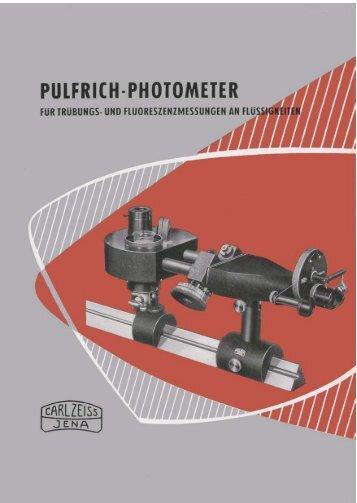 Pulfrich Photometer für Truebungs und Fluoreszenzmessungen