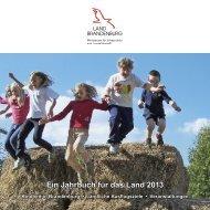Ein Jahrbuch für das Land 2013 - Ministerium für Infrastruktur und ...