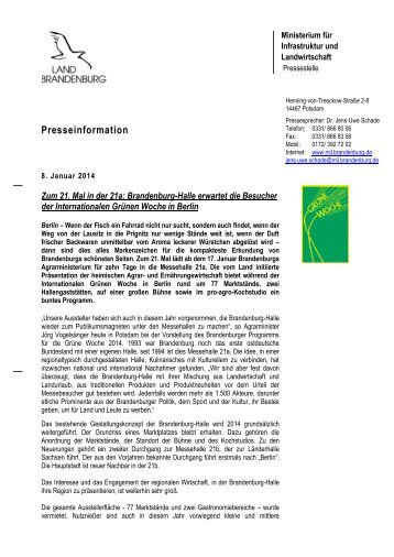 Heinrich-Mann-Allee 103 - Ministerium für Infrastruktur und ...