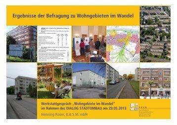 Ergebnisse der Befragung zu Wohngebieten im Wandel