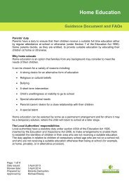 Guidance Document and FAQs Home Education - Milton Keynes ...