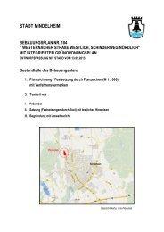 Bebauungsplan 104, Begründung u ... - Stadt Mindelheim