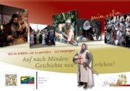 Flyer Geschichte neu Erleben 2013 - Minden Marketing GmbH