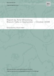 Branch Talks in September – October 2008 - Opetusministeriö