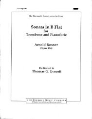 Rosner - Sonata for Trombone and Piano, op. 106
