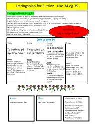 Læringsplan for 5. trinn uke 34 og 35 - Minskole.no