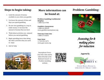 Problem Gambling: Assessing for and Making Plans for Reduction