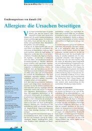 Allergien: die Ursachen beseitigen - Mir z'lieb