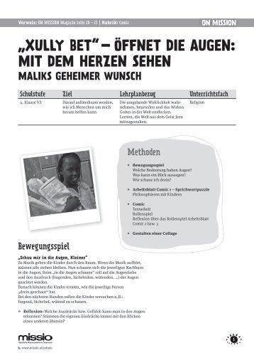 Zum Download: Format A4, 6 Seiten, PDF - Missio