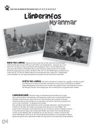 Länderinfos Myanmar - Missio