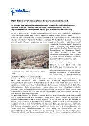 Erlebnisbericht von David Buschor (Mai 2013) - Mission 21