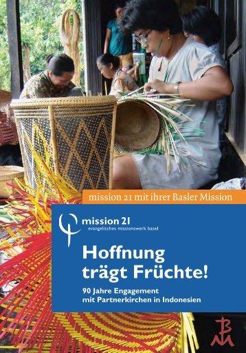 Engagement von mission 21 in Indonesien