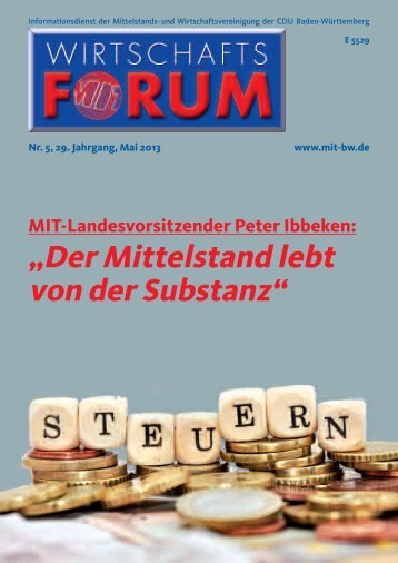 Stimmen des Mittelstandes - Mittelstands- und ...