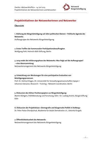 Antrag für die Errichtung und den Betrieb eines ... - Stiftung Mitarbeit