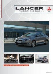 Preisliste Sedan & Sportback - Mitsubishi