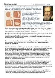 Galileo Galilei - Mittelschulvorbereitung Deutsch