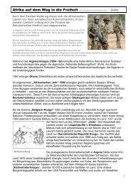 Afrika auf dem Weg in die Freiheit - Mittelschulvorbereitung Deutsch