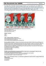 Die Geschichte der UdSSR - Mittelschulvorbereitung Deutsch