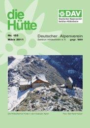 Die Hütte 155 - Deutscher Alpenverein Sektion Hildesheim
