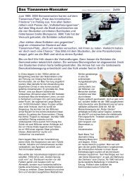 Das Tiananmen-Massaker - Mittelschulvorbereitung Deutsch