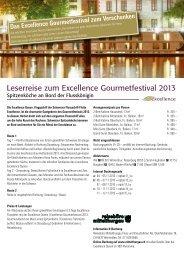 Leserreise zum Excellence Gourmetfestival 2013 - Reisebüro ...