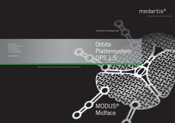 MODUS® Midface Orbita Plattensystem OPS 1.5 - 18 ...