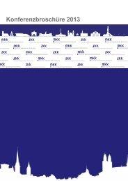 Konferenzbroschüre 2013 - auf der Münchner Kapitalmarkt Konferenz