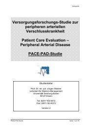 Versorgungsforschungs-Studie zur peripheren arteriellen ...